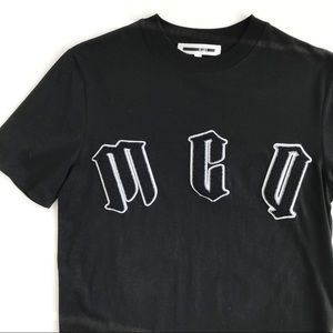 Alexander McQueen MCQ Varsity Letter T Shirt   XS